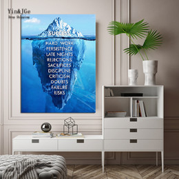 $enCountryForm.capitalKeyWord Canada - HD Printed 1 Pieces Canvas Painting Inspirational success Quote Poster Ice Mountain Underwater Pictures Motivational Quote