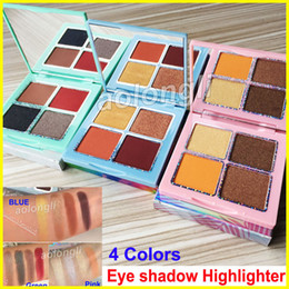Blue green eyeshadow online shopping - New Colors Eyeshadow Makeup Kourt eye shadow palette Highlighter pressed powder eyeshadow Green Blue Pink palette Styles free DHL