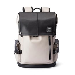 China New Fashion Brand Designer Backpack Double Shoulder Bag Outdoor Traveling Bags PU Leather Schoolbags for Men Students Backpacks cheap backpack men suppliers