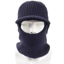 363d2fe2213 2018 New Winter Plush Knitted Hooded Neck Warmer Cap for Women Men Ski Bike  Wind Stopper Face Mask Thick Warm Beanie Hat Scarves