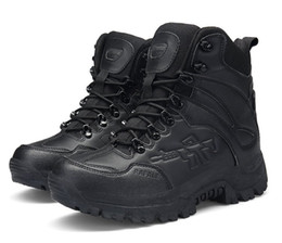 army combat boots men 2018 - Mens Military Tactical Boots Leather Desert Outdoor Combat Army Boots Hiking Shoes Travel Botas Male Trekking Boots 45 4