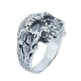 Men Size 15 Rings Australia - Size 7-15 New Design 925 Sterling Silver Ghost Skull Ring S925 Hot Selling Men Boys Punk Skull Ring