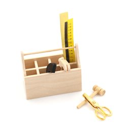 $enCountryForm.capitalKeyWord UK - 1 12 Dollhouse Miniature Wooden Toolbox With Tools Set Repair Kits Decoration For Doll House Accessories Furniture Toys