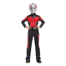 Discount disfraces costumes - Disfraces Halloween Carnival Ant-Man Costume cosplay Movie Anime Fantasia kids Children The Avengers Cosplay Boys costum