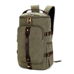 c35ad8df3fbd MCO Large Capacity Travel Backpack For Men Retro Waterproof Canvas Laptop  Bagpack Men s Weekend Duffle Bags Big Male Rucksack Y1890401