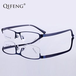 Discount myopia glasses male eyeglasses frame - QIFENG Spectacle Frame Eyeglasses Men Computer Optical Prescription Myopia Clear Lens Eye Glasses Frame For Male Oculos