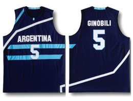 Manu Ginobili  5 Team Argentina Navy Blue Retro Classics Basketball Jersey  Mens Embroidery Stitched Custom any Number and name Jerseys 208b65856