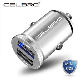 wireless usb port adapter UK - Car Charger Dual USB Car Charger Adapter 4.8A Mini Car-Charger Mobile Phone Car USB Charger 2 Port 24W for Samsung iPhone huawe