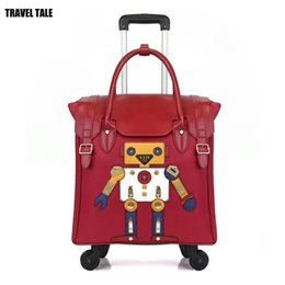 44362f5a3c2e TRAVEL TALE 18 inch women carry on hand luggage light travel bag cute small  trolley for lady