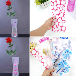 pvc foldable flower vase NZ - 12*27cm Creative PVC Plastic Vases Eco-friendly Foldable Folding Flower Vase Reusable Home Wedding Party Decoration Plastic Xmas Gift