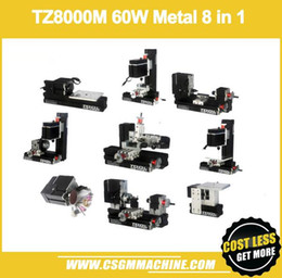 Wholesale TZ8000M W Metal in Mini lathe W rpm Mini in1 lathe Kit in Metal lathe Drilling Milling Sanding Machine