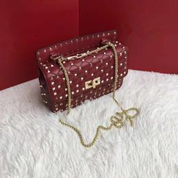 Nude color leather haNdbag online shopping - Best selling explosion brand Nice Bag luxury handbag designer handbag stitching color shoulder bag fashion hardware