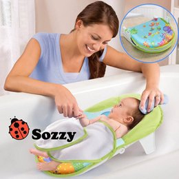 Baby S Beds NZ - Sozzy Foldable Newborn Bath Tub Bed Pad Kids Shower Net Baths Chair Shelf Infant Bathtub Support For 0-12 Months Baby S
