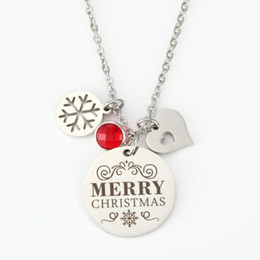 gift idea wholesale Australia - Fashion jewelry accessories Inspirational Key chain New for Women Gift Jewelry Merry Christmas Pendant Necklace Gift Idea