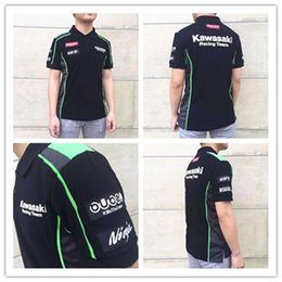 moto gp kawasaki 2019 - 2018 Moto GP Kawasaki Motocard Team Polo shirt Black Green NEW