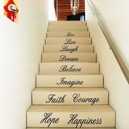 $enCountryForm.capitalKeyWord NZ - 186*58CM LOVE LIVE HOPE Quotes Wall Stickers DIY Vinyl Proverbs Decals Letters and Words Stairs Decals for Home Decor Life Stickers
