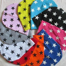 Yellow Beanies Australia - Baby Hat Star Printing Cotton Caps For Baby Boy Girl Beanie Hat Spring Autumn Winter Children's Hats Caps New Arrival T6