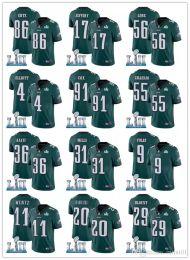 NEW Philadelphia Men Eagle 86 Zach Ertz 9 Nick Foles Jersey 11 Carson Wentz  36 Jay Ajayi 2018 Super Bowl Alshon Jeffery Dawkins Jerseys a8ed647aa