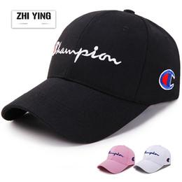 Discount golf hat styles - Male and female Korean version Visor Cap Letter  embroidery Baseball cap f2453e54ed9