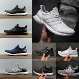 timeless design ff082 302c8 2018 Ultra 3.0 4.0 men women Running Shoes Triple Black white CNY oreo blue  Ultra Primeknit Shoes sports sneaker us 5-11