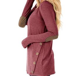 $enCountryForm.capitalKeyWord UK - Winter Autumn Shirts Women Top New T-shirt Casual Basic Tee O-Neck Long Sleeve TShirts Patchwork Buttons Plus Size T Shirt GV320