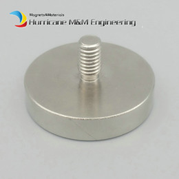 $enCountryForm.capitalKeyWord Australia - 1 Pack Lathed Cup Mounting Magnet Diameter 16-120 mm Clamping Pot with Male Thread Neodymium Lifting Magnet Strong Holding Magnet