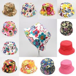 c83e6df50e1 Children Flowers Sun Basin Cap Wholesale Temperament Sunshine Leisure  Children Fisherman Hat UV Sun Protective Bucket Hat Free DHL G849F