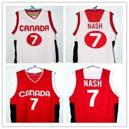 $enCountryForm.capitalKeyWord NZ - Cheap STEVE NASH #7 TEAM CANADA BASKETBALL JERSEY NEW RED,white - ANY SIZE,all name and numbers are stitched Retro Top