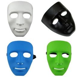 $enCountryForm.capitalKeyWord Australia - 300pcs Halloween face mask white jabbawockeez mask hiphop jabbawockeez mask white hip hop plain masquerade masks white black blue