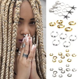 Discount dreadlocks weave hair Reggae Club Hair Clips Dreadlocks Locs Opened-Ring Hairstyle weave plaits DIY Accessory for African Hair Clip