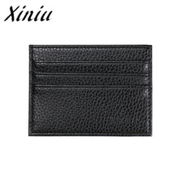 Chinese  JINBAOLAI Card Holder Mens Luxury Retro Men Leather Business Clutch Billfold Wallet Credit ID Card MenSlim Purse #PCSE manufacturers