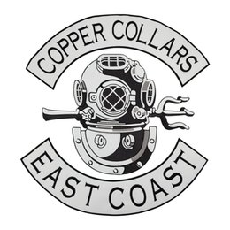 Bikers Back Patches Australia - COPPER COLLARS EAST COAST Patch Punk MC Embroidered Full Back Large Applique For Rocker Biker Vest Patches for clothing Free Shipping