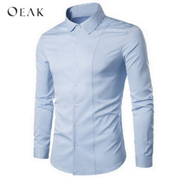 $enCountryForm.capitalKeyWord NZ - Men's Formal shirts French Cuff Fit Dress Shirts 2018 New Fashionable Men's solid Long sleeve shirt Oeak TS