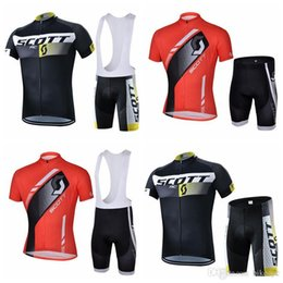team scott bicycle clothing 2019 - SCOTT team Cycling Short Sleeves jersey (bib) shorts sets Hot sale cycling suit Men's bicycle wearable clothes size