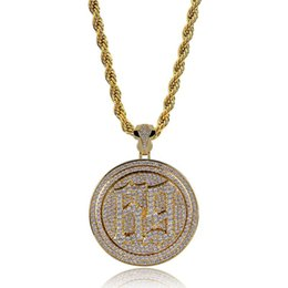 24k necklace pendants for men online shopping - Rotate ix9ine Pendant Necklace For Men K Gold Silver Plated Hip Hop Jewelry Ice Out Bling Cubic Zirconia Accessories