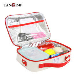 lunch bags for kids 2018 - TANGIMP Portable Insulated Cotton Linen Lunch Bags Motorcycle Birds Thermal Picnic Bag for Women kids Cooler Lunch Box T