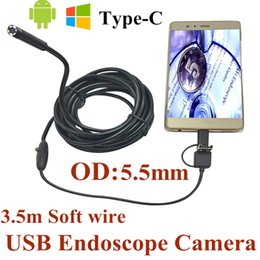 EndoscopE wirE camEra online shopping - Newest mm in USB Endoscope Camera IP66 Waterproof Snake Soft Wire Tube Inspection Android OTG Type C USB Borescope Camera