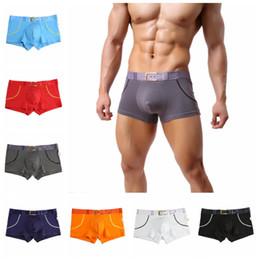 $enCountryForm.capitalKeyWord Australia - New Arrival Mens Bulge Pouch Boxer Shorts Trunks Printed Belt Underwear Underpants Cotton Soft Boxers Bottoms
