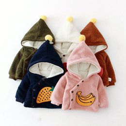 jacket hat baby 2018 - Children Outerwear New Unisex Baby Embroidered Thicken Fleece Pointy Witch Hat Coat Hooded Jacket Kids Clothes cheap jac