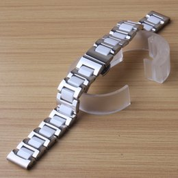 tool bracelet Australia - New high quality watchband Ceramic and stainless steel strap 16mm 18mm 20mm 22mm for Huawei watch Sumsang S3 smart watch bracelet free tools