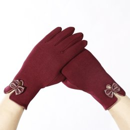 Leather Gloves Sale Australia - Whole Sale Winter Outdoor Ladies Gloves Sports Traveling Cycling Warmer Full Finger Gloves Fashion Casual Style Touch Screen Women Gloves