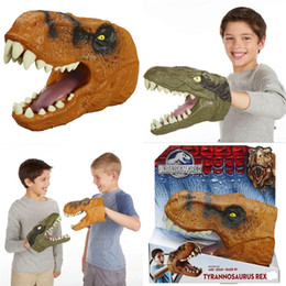 Free puppets online shopping - Dinosaur Headgear Children Hand Puppet Creative Kid Boy Funny Toy Glove Toys Doll Decoration PVC Cartoon Novelty ct V