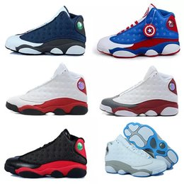 Hologram Shoes NZ - Classic high quality 13s XIII man basketball Shoes hologram barons Bred He Got Game flints grey toe sport sneakers