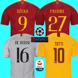 Top Thailand DZEKO PEROTTI PASTORE soccer jersey rome 2019 TOTTI jersey 18  19 football kit shirt DE ROSSI JESUS as maillot de foot roma 15b41bbfd