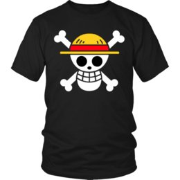 China One Piece Shirt Anime Pirates Flag Unisex T-Shirt Luffy Shirt Anime Manga Tee 2018 New Brand Top Tees Custom Any Logo Size suppliers