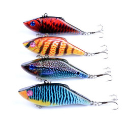 fishing lure packaging wholesale Canada - 4 Pcs lot Fishing lure VIB package fish Luya full waters of the bait fishing bait vibe swimbaits lures vibes salt fresh water