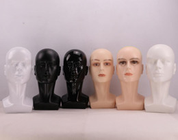 Glass wiG heads online shopping - Male Mannequin Heads for Hat Wig Display Glass Displaying Men Model Head Fibreglass