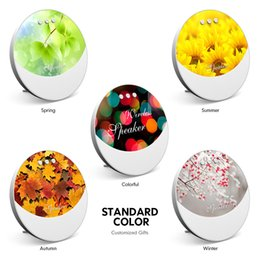 Mini Gift Boxes NZ - Bluetooth voice box new seven color lamp mini card sound box acoustics Christmas annual gift custom factory comfort quiet