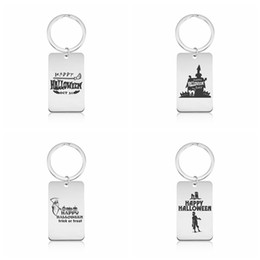 $enCountryForm.capitalKeyWord NZ - Halloween Keychains Stainless Steel Pumpkin lantern Printing Keyrings Men Women Popular Gift New Arrival Jewelry wholesale