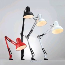 Folding Art Table Australia - Desk Lamp Led Flexible Desk Lamp Home Office Led E27 Screw Base LED Metal Architect Table Lamp Adjustable Folding Reading Light